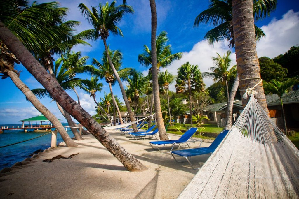 Coco de Mer Black Parrot Suites Beach Hammock