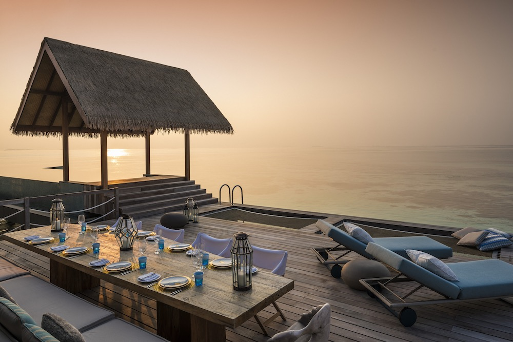 Four Seasons Voavah Private Island Sunset Decking