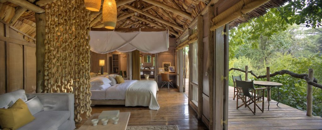 &Beyond Lake Manyara Tree Lodge Bedroom