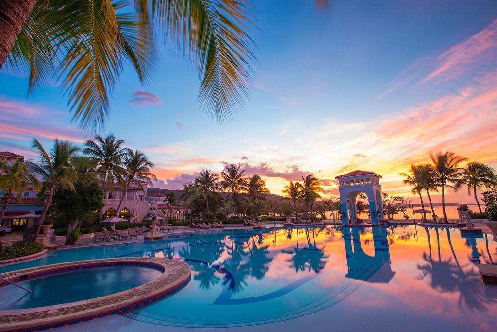 Sandals South Coast Pool Sunset