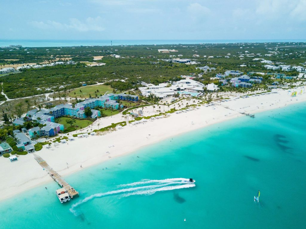 Club Med Turkoise Beach Aerial