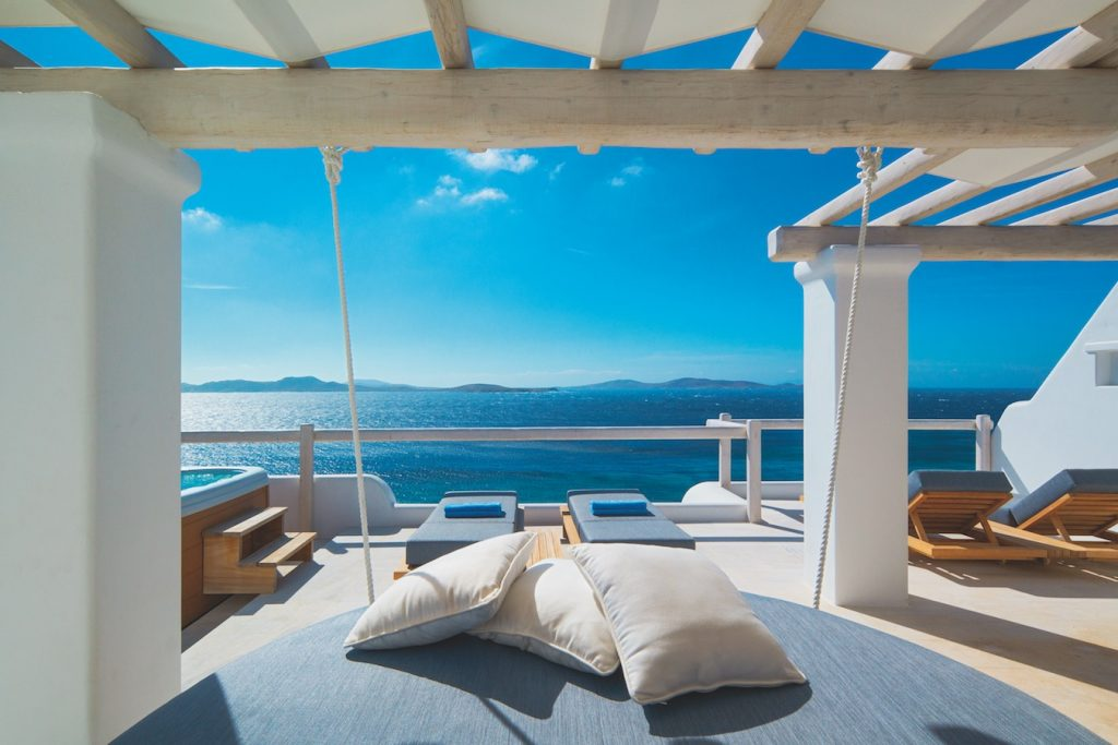 Mykonos Grand Executive Suite Terrace