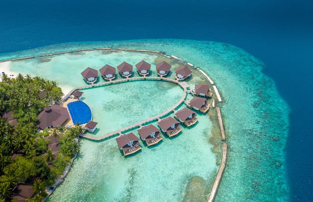 Ellaidhoo Maldives Swimming Pool Aerial