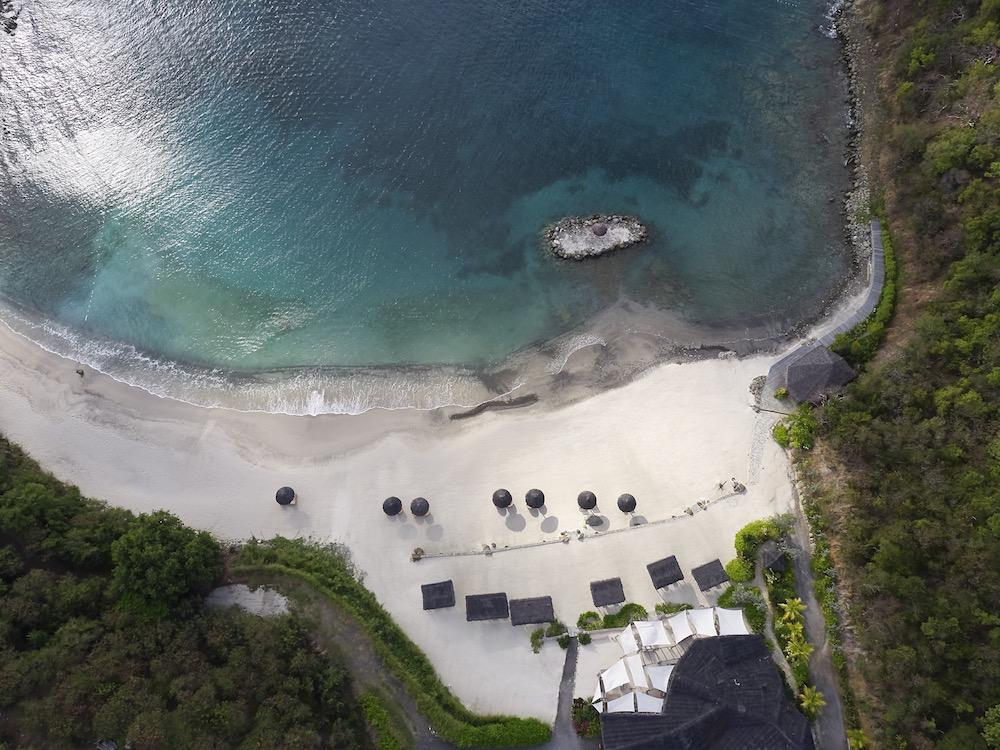 Mandarin Oriental Canouan Aerial Beach