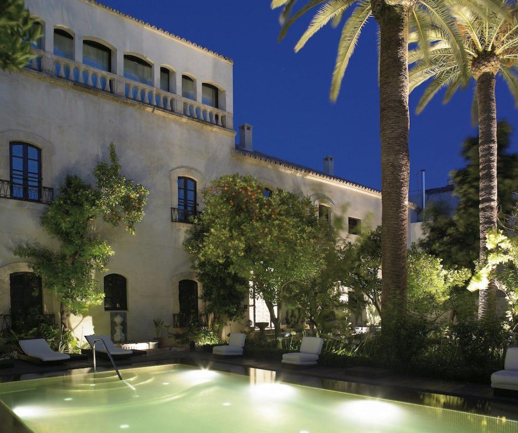Hospes Cordoba Palacio del Bailio Evening Swimming Pool